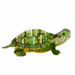 Jade Turtle Sculpture Photo Cut Outs