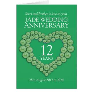 Jade wedding anniversary sister card