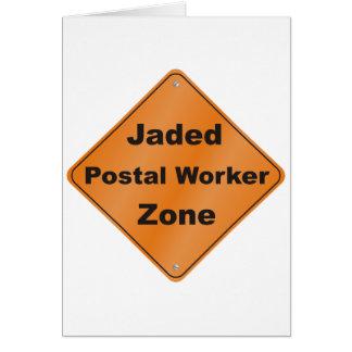 Jaded Postal Worker Greeting Card