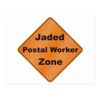 Jaded Postal Worker Postcard