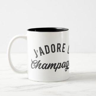 J'ADORE LE CHAMPAGNE Two-Tone COFFEE MUG