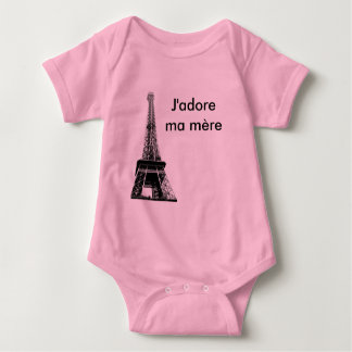 J'adore ma mere baby tshirts