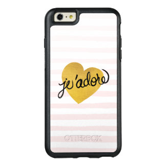 J'adore Quote | Black & Gold Heart OtterBox iPhone 6/6s Plus Case