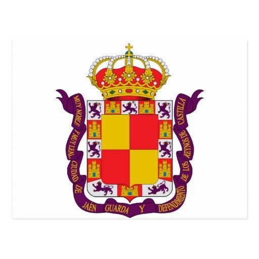 Jaén Coat of Arms Post Card