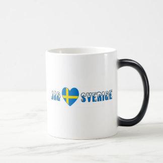 Jag Kärlek Sverige Magic Mug