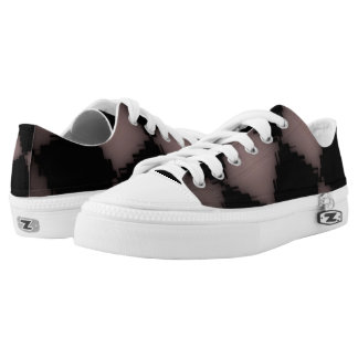 Jagged Checks in Pink Low Tops