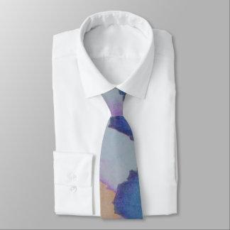 jagged color blocks original abstract design tie