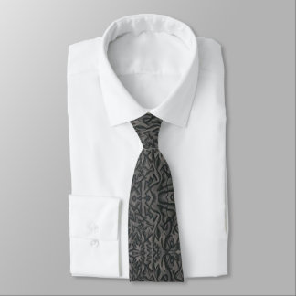 """Jagged Curves"" Men's Abstract Tie"