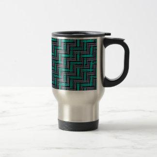 Jagged Plaid Travel Mug