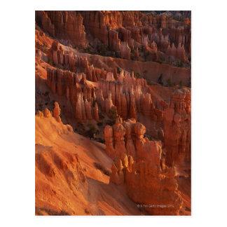 Jagged rock formations postcard