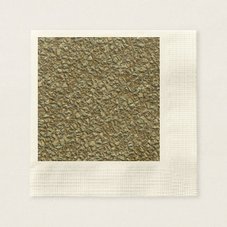 jagged stone golden disposable napkins