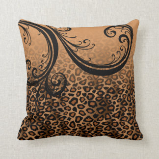 Jaguar Animal Print | Brown Cushion