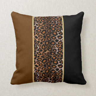 Jaguar Animal Print | Rich Deep Brown Cushion