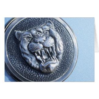 Jaguar badge greeting card
