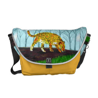 Jaguar Big Cat Animal Art Messenger Bag