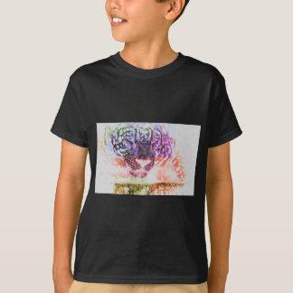 Jaguar cat rainbow art print T-Shirt