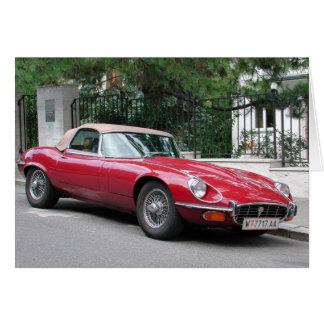 Jaguar E Type Card