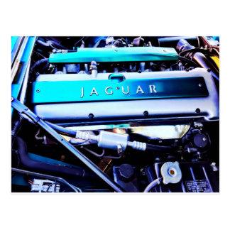Jaguar engine postcard