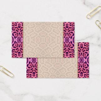 Jaguar Fur in Pink and Purple Business Card