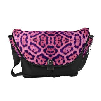 Jaguar Fur in Pink and Purple Commuter Bags