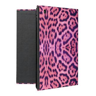 Jaguar Fur in Pink and Purple iPad Cover