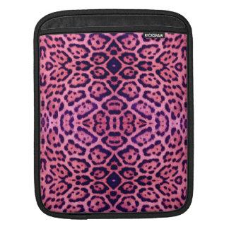 Jaguar Fur in Pink and Purple iPad Sleeve
