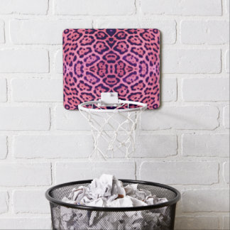 Jaguar Fur in Pink and Purple Mini Basketball Hoop