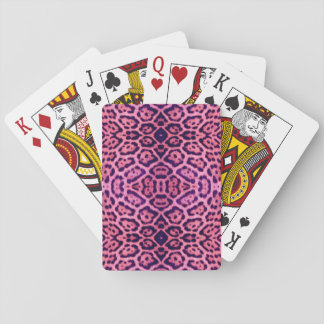 Jaguar Fur in Pink and Purple Playing Cards