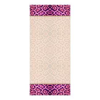 Jaguar Fur in Pink and Purple Rack Card