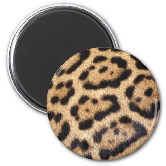 Jaguar Fur Photo Print 6 Cm Round Magnet