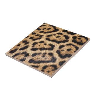 Jaguar Fur Photo Print Ceramic Tile