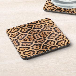Jaguar Fur Photo Print Beverage Coasters