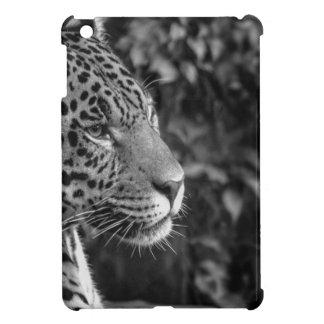 Jaguar in black and white iPad mini cover