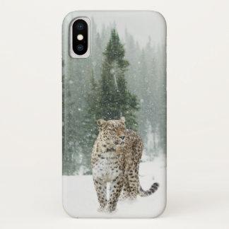 Jaguar in the Snow iPhone X Case