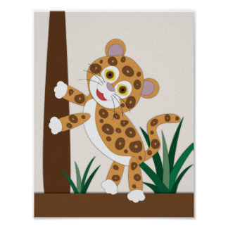 Jaguar Nursery Art Poster