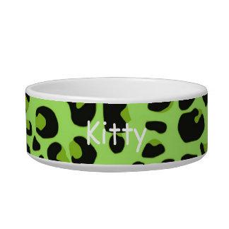 Jaguar Print Cat Bowl