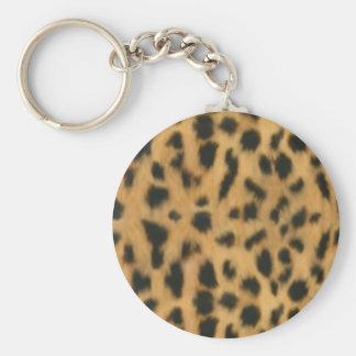 Jaguar print, faux fur pattern key chain