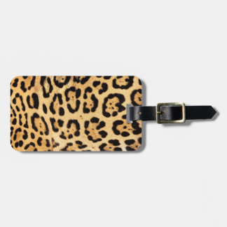 Jaguar Print Luggage Tag