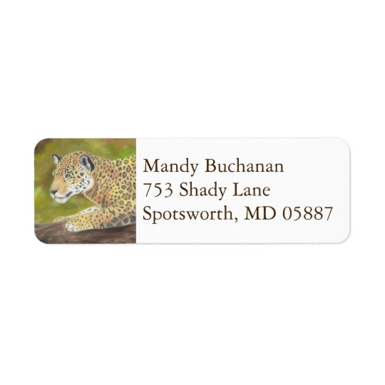 Jaguar return address label