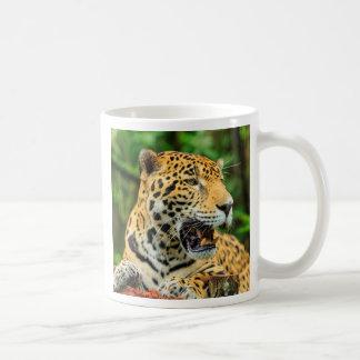 Jaguar shows its teeth, Belize Coffee Mug