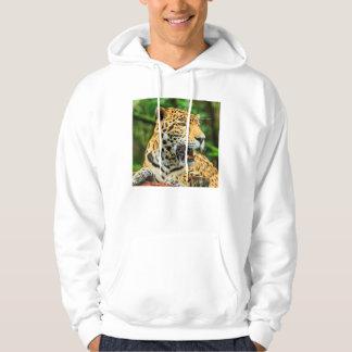 Jaguar shows its teeth, Belize Hoodie