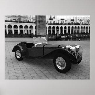 Jaguar SS 90 Roadster (Black and White) - LARGE Poster