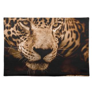 jaguar water stalking eyes placemat