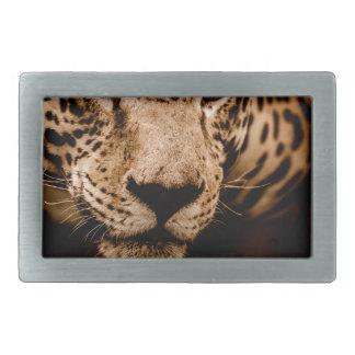 jaguar water stalking eyes rectangular belt buckles