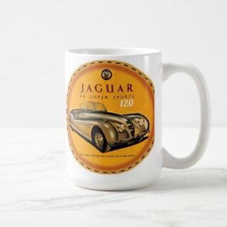 Jaguar Xk-120 car sign Coffee Mug