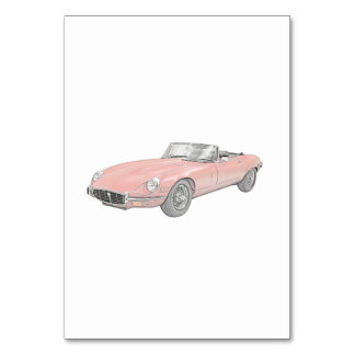 Jaguar XKE 1972 Table Cards
