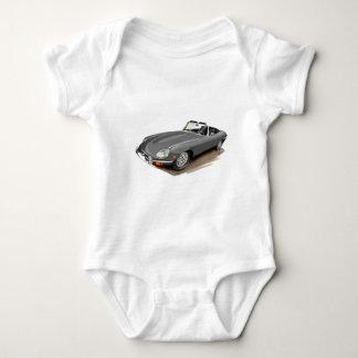 Jaguar XKE Grey Car Baby Bodysuit