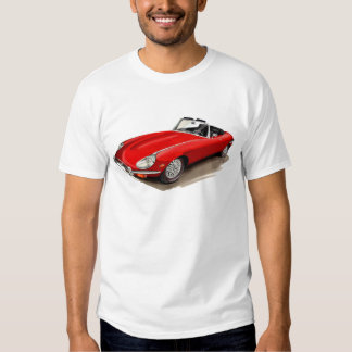 Jaguar XKE Red Car T-shirts