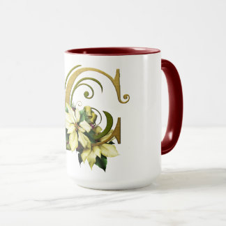 "Jaguarwoman's ""Ars Botanica 3""  Monogram Mug ""C"""