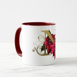 "Jaguarwoman's ""Ars Botanica 3"" Monogram Mug ""N"""